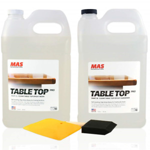 Crystal Clear Epoxy Resin Two Gallon Kit Mas Tabletop Pro Epoxy Resin
