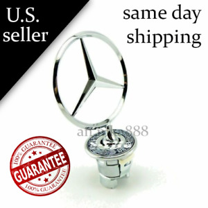Genuine Mercedes Benz Standing Logo Star Hood 3d Emblem A 2108800186 New Oem