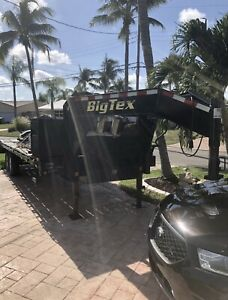 2017 Big Tex 25 Ft 20 5 Gooseneck Trailer With Mega Ramps And Dp Winch