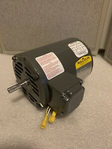 Baldor Industrial Single Phase Electric Motor 1 2 Hp 3450 Rpm 115 208 230 V