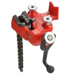 Top screw Bench Chain Vise From 1 8 In To 4 Inch With Handy Pipe Rest Heavy Duty