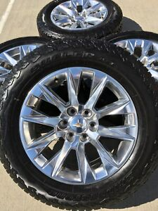 20 20 Inch Chevy Silverado Ltz 2019 Oem Wheels Rims Tires A t 2019 New 6x139