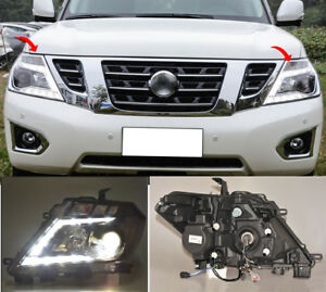 For Nissan Patrol Armada 10 17 Xenon Car Front Head Light With Drl Turn Lens