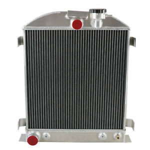 3 Row Aluminum Radiator For 1932 Ford Hi Boy Hot Rod Grill Shells Ford V8 Engine