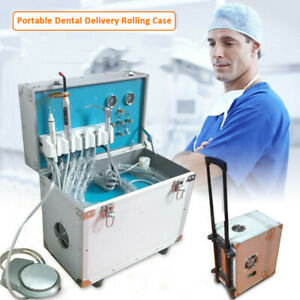 Dental 4 Holes Ultrasonic Scaler Portable Delivery Unit System Led Curing Light