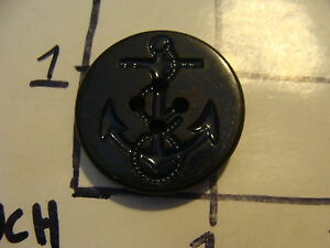 Original Vintage Button Early Anchor Large Not Metal Black