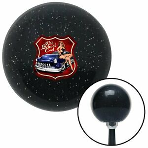 Old School Cool Black Metal Flake Shift Knob With M16x1 5 Insert Hotrod Racing