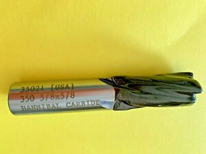 5 8 X 5 8 Hannibal Carbide Tipped 4 Flutes End Mills Cutting Tool