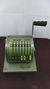Vintage Paymaster Check Writer series X900 1962 free Ship vgc As Is