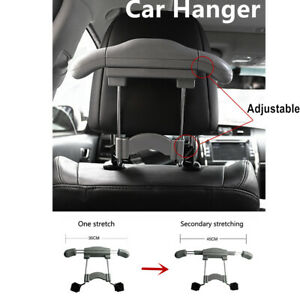 Gray Car Clothes Hanger Holder Stainless Steel Rack For Jacket Coat Suit Shirts