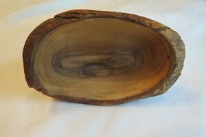 Wood Bowl Small Hand Carved Live Edge