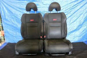 2008 08 Honda Civic Si Coupe Fg2 Oem Black Lh Rh Front Seats wear 9278