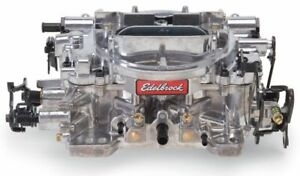 Carburetor Thunder Avs 4 barrel 650cfm Square Manual Choke Mech Sec Satin Reman
