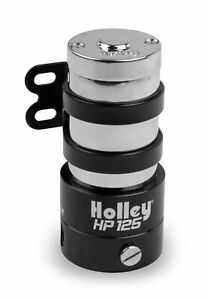 Holley Fuel Pump Hp Series In Line 110gph 7psi 3 8 Npt In Out Black Chrome