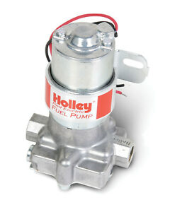 Holley Fuel Pump Red In Line 71gph At 4psi 3 8 Npt Inlet 3 8 Npt Outlet Silver