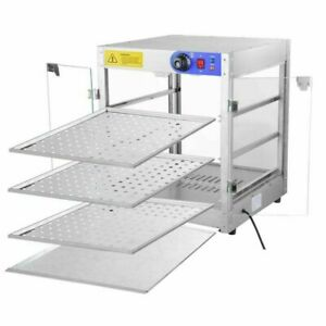 Commercial 3 tier 20x20x24 Countertop Food Pizza Warmer Cabinet Case 8hrs 750w