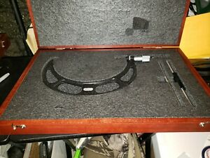 Starrett No 436 8 9 Inch Outside Micrometer 2 Standards And Cushioned Box
