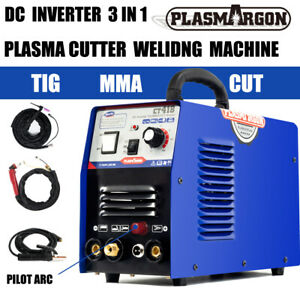 Non touch Pilot Arc Plasma Cutter tig stick Welder 3 In 1 Combo Welding Machine