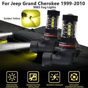 2x Led Driving Lights Golden Yellow Led Fog Lights For Jeep Grand Cherokee 99 10