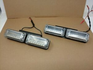 Lot Of 4 Federal Signal Viper Ext Vpx800 r b Led In Great Working Condition