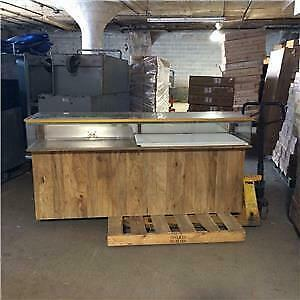 Glass Showcases Wood Counter Displays Used Store Fixtures Straight Cases Sale