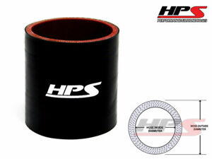 4 Long Hps 2 75 70mm 4 Ply Silicone Intercooler Turbo Coupler Tube Hose Black