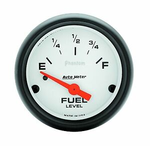 Autometer Phantom Electric Universal Gm Chevy Fuel Level Gauge 2 1 16 52mm