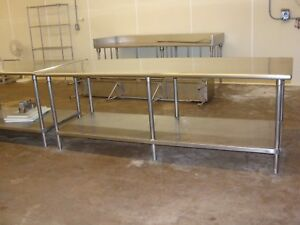 Stainless Steel Tables 96 x36 And 120 x36