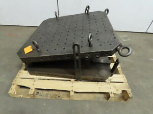 Large Machine Fixturing 36 x36 Sine Plate Table Adjustable Angle
