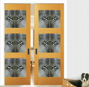 Lead Glass Interior Doors Solid Wood With Genuine Glass Panels 3
