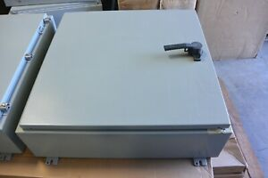 A30h30blp3pt Hoffmann Enclosures Wall Mount Type 4 With Handle New No Box