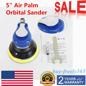 5 Air Palm Orbital Sander Random Hand Sanding Pneumatic Round Air Sanders