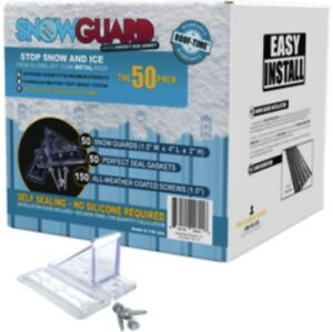 free Shipping New Snowguard 50 Pack Seal Gaskets Screws Snow Guard Metal Roof