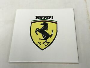Ferrari Prancing Horse Logo Display Showroom Garage Tile White Made In Itlay