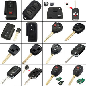 Replacement Flip Remote Key Fob Case Shell For Toyota Corolla Prius Yaris Camry