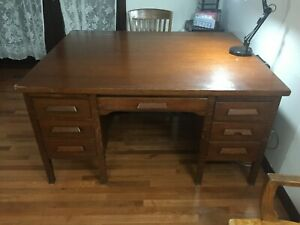 Antique Oak Partners Double Desk 5 X4 500 Or Best Offer Local Pick Up Only