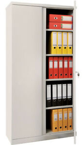 5 Shelf Safe Box M 18 Solid Steel Construction With Key And 2 Door Lock