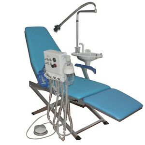 Dental 360 Degree Full Folding Chair With Turbine Unit Led Cold Light Spittoon
