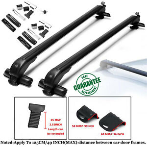 49 Universal Top Roof Rack Cross Bars Luggage For 4 5 Door Car Suv Truck Jeep