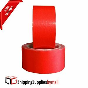 Pvc Packaging Sealing Tape 180 Rolls 2 X 55 Yds 165 Ft Red 2 3 Mil Thick