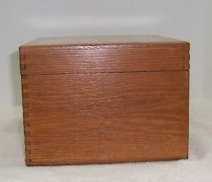 Merchants Box Co Small Oak File Card Recipe Box