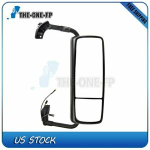 Fits 2015 18 Chrome Complete Truck Pasenger Side View Volvo Vnl Side Rear Mirror