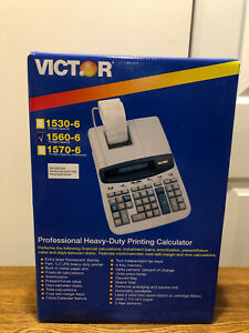 New Victor 1560 6 Two color Professional Printing Calculator 5 2 Lines sec