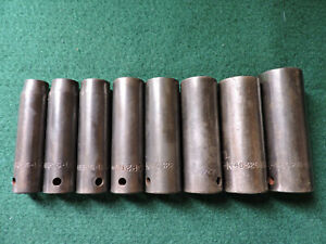 Sk Snap On And Mac 8 Piece 6 Point Deep Impact Socket Set 1 2 Drive 7 16 7 8