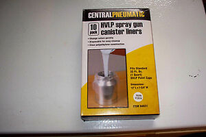 Hvlp Spray Gun Paint Cup Canister Liners Plastic Quart Container