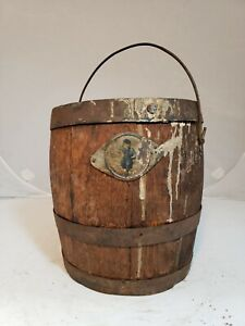 Late 1800 S Early 1900 S Dutch Boy Paint Bucket With Badge