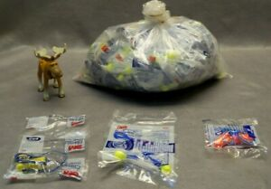 3m And Max Earplugs W Cord Mixed Lot Bag Weight 9 Ounces see Description