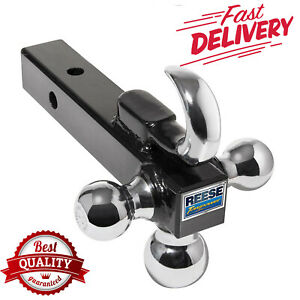 Trailer Hitch Hook Tri Ball Reese Steel Car Towing Haul Tow Metal Scratch Resist
