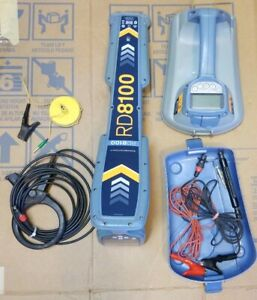 Spx Rd8100 Pdl Radiodetection Tx5 Utility Cable Pipe Locator Receiver 4 Clamp