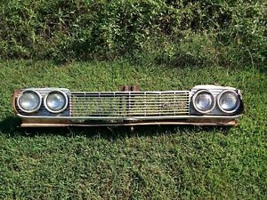1964 Chevy Impala Grille Assembly Complete Original Chevrolet Ss Bel Air Grill